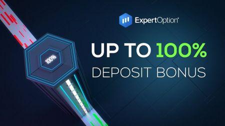ExpertOption ওয়েলকাম প্রমোশন - 100% ডিপোজিট বোনাস $ 500 পর্যন্ত
